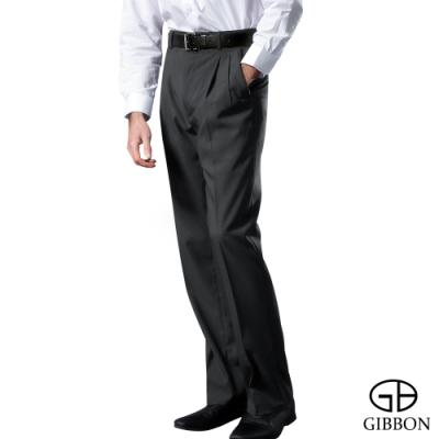 GIBBON 經典素面質感打摺西裝褲‧灰色