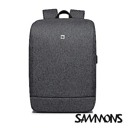 SAMMONS 安德爾商務筆電後背包 紳士灰