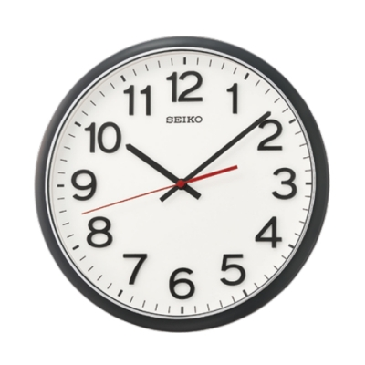 SEIKO 日本精工 掛鐘 滑動式秒針 時鐘(QXA750K)31cm