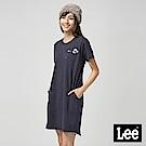 Lee 長版口袋棒棒糖綉花洋裝/RG-0-丈青