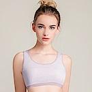 運動內衣 棉質絲蛋白舒適條紋M-XL運動內衣 高貴紫 可蘭霓Clany