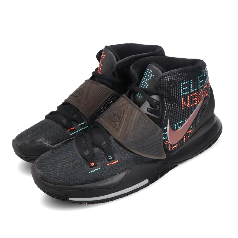 Nike 籃球鞋 Kyrie 6 EP 運動 男鞋 避震 包覆 明星款 XDR外底 球鞋 黑 銀 BQ4631006