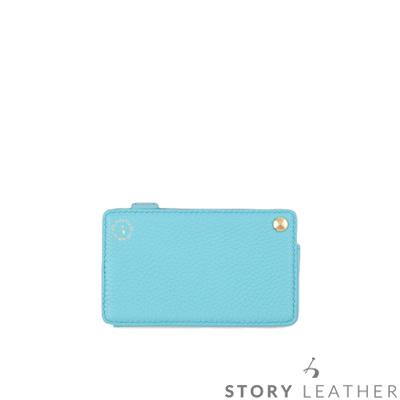 STORYLEATHER Style 91303 14卡牛皮收納包 荔枝紋薄荷藍