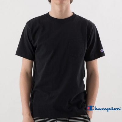 Champion Basic 經典款口袋短Tee 黑色