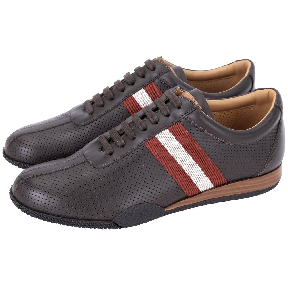 BALLY FRENZ 經典織帶打洞設計綁帶休閒鞋(咖啡色)