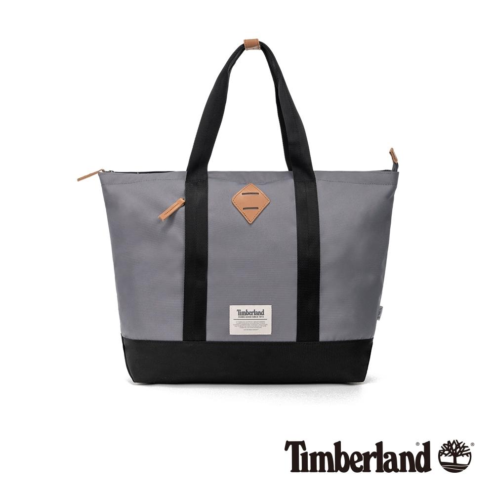 Timberland 中性灰色拼接托特包|A2FN5