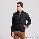 GIORDANO 男裝輕量立領防寒鋪棉外套-09 標誌黑