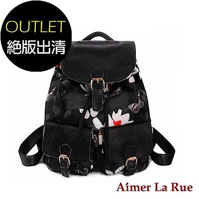 Aimer La Rue 印花尼龍後背包(二款)(絕版出清)