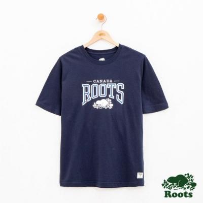 男裝Roots 經典短袖T恤-藍