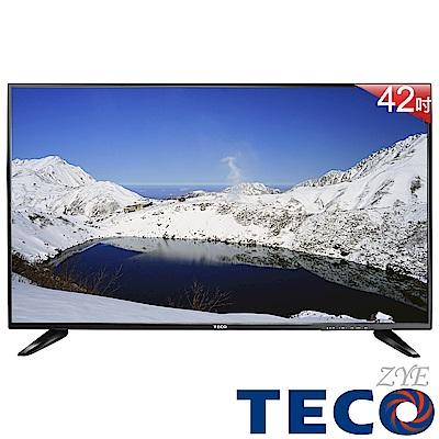 TECO東元 42吋 FHD低藍光液晶顯示器 視訊盒 TL42K1TRE