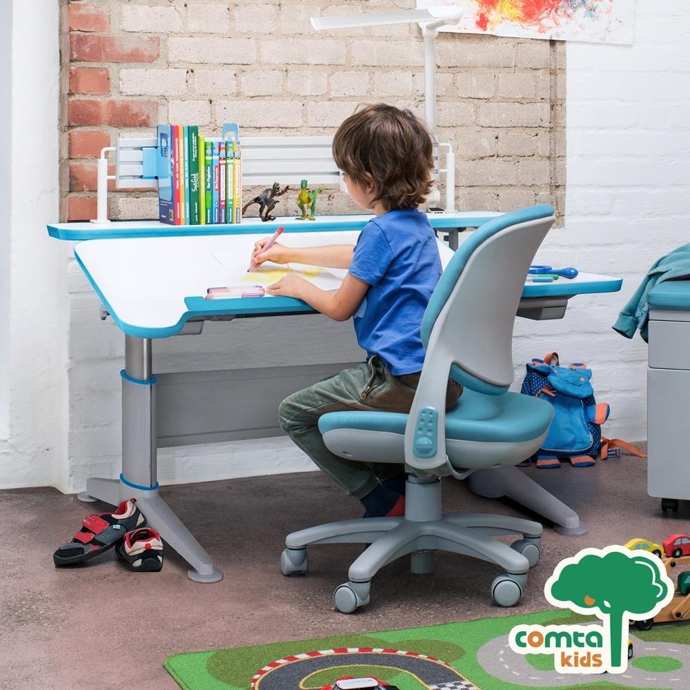 comta kids_MERIT擇優創意兒童成長學習桌‧幅112cm(藍) W112*D80.5*H52~74 cm