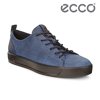 ECCO SOFT 8 M 限定款簡約休閒鞋 男-牛仔藍