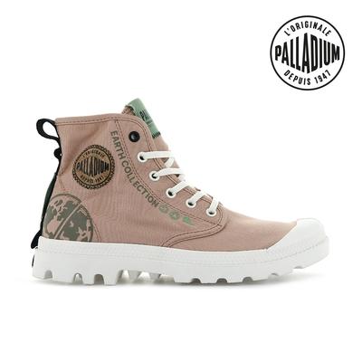 PALLADIUM PAMPA ORGANIC METRO有機軍靴-中性-玫瑰粉