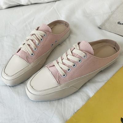 韓國KW美鞋館 經典簡約休閒網紅穆勒鞋 粉