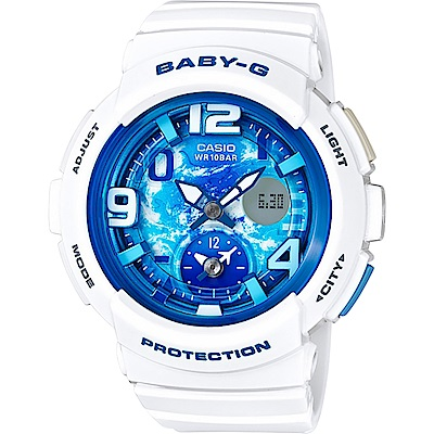 Baby-G 旅行系列晴空手錶-藍x白(BGA-190GL-7B)