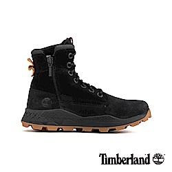 Timberland 男款黑色磨砂革側拉鏈靴 A228P