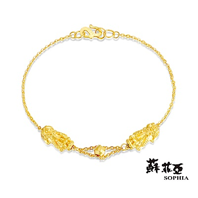 蘇菲亞SOPHIA - 開運系列貔貅搶珠黃金手鍊