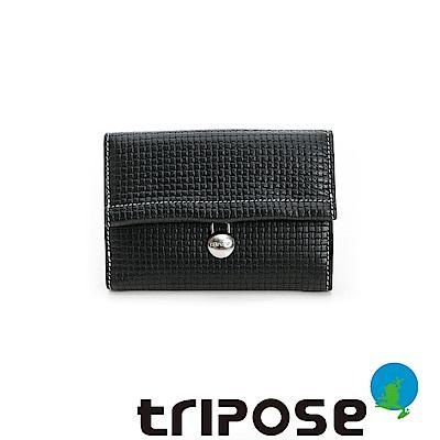 triposeYuppie系列經典LOGO鐵扣女中夾 (黑咖)