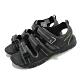 Merrell 涼鞋 M-Hydro Creek 運動 女鞋 童鞋 魔鬼氈 透氣 鞋面寬度可調 中大童 黑 綠 MK262554 product thumbnail 1