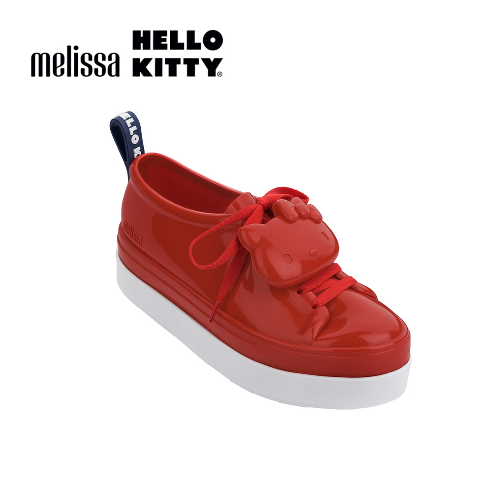 Melissa X HELLO KITTY親子系列 成人休閒鞋-紅色