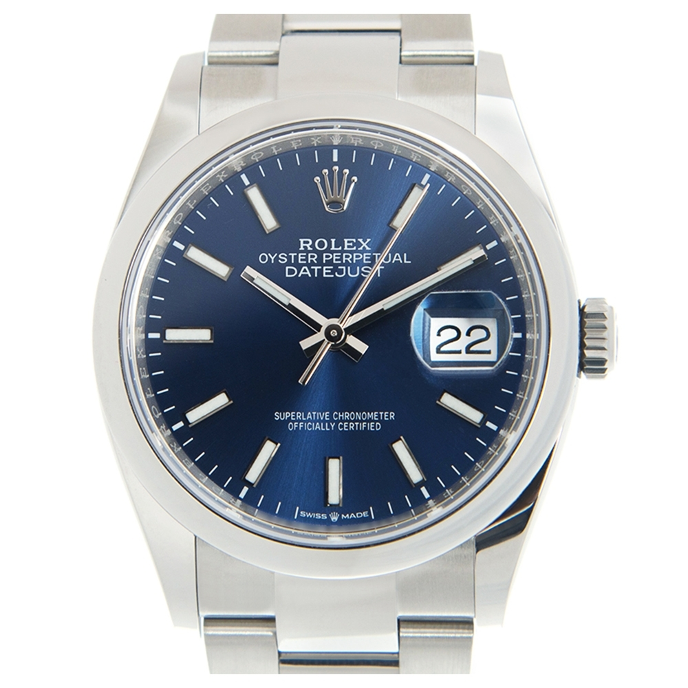 ROLEX 勞力士126200 Datejust蠔式恆動鍊帶款x藍面x36mm