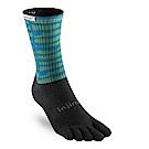 【INJINJI】TRAIL野跑避震吸排五趾中筒襪-藍綠條