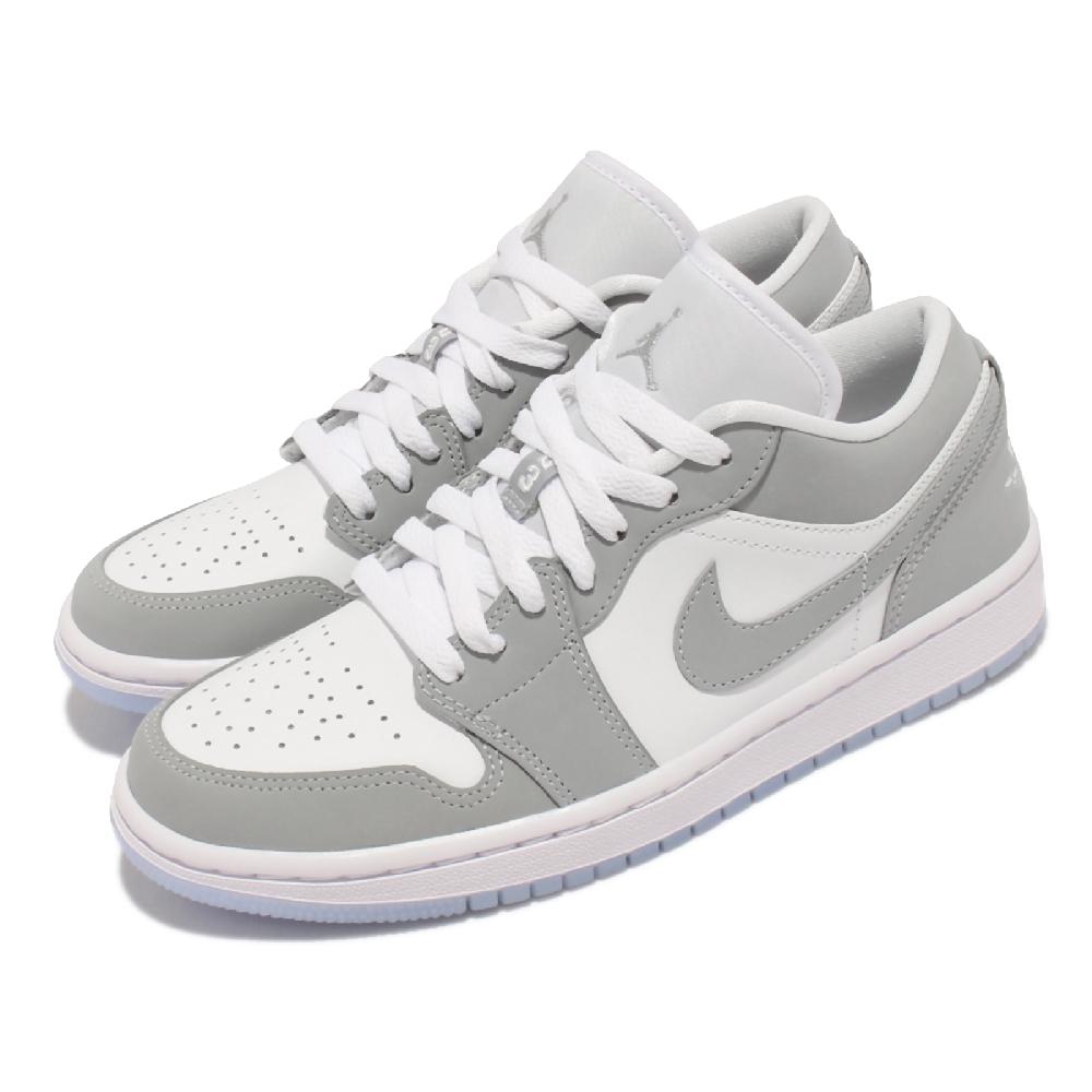 Nike 休閒鞋 限量 W Air Jordan 1代 女鞋 小Dior 低筒 喬丹 AJ1 果凍底 白 灰 DC0774-105