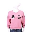 Chiara Ferragni Flirting 眨眼刺繡粉色棉質運動衫