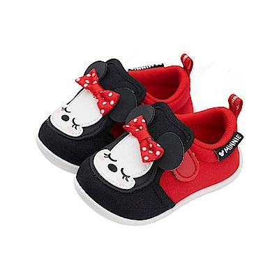 迪士尼 米妮 睡覺寶寶造型 學步鞋-紅