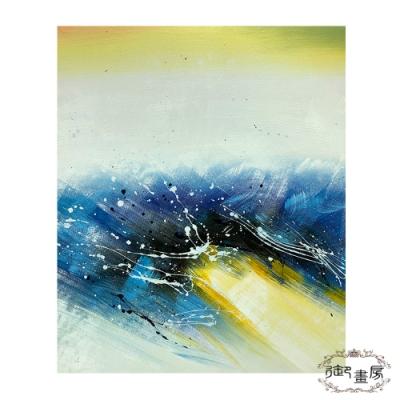 御畫房 手繪無框油畫-碧波蕩漾 50x60cm