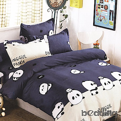 BEDDING-活性印染5尺雙人薄床包涼被組-好伙伴