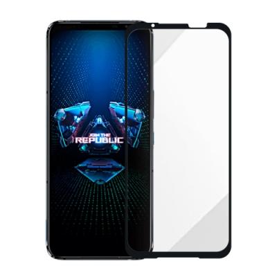 Metal-Slim ASUS ROG Phone 5 ZS673KS 全膠滿版9H鋼化玻璃貼-晶鑽黑