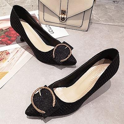 KEITH-WILL時尚鞋館 時尚潮流女款夏日精選細跟鞋-黑色