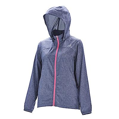 荒野【wildland】女可溶紗環保吸排透氣外套深灰色