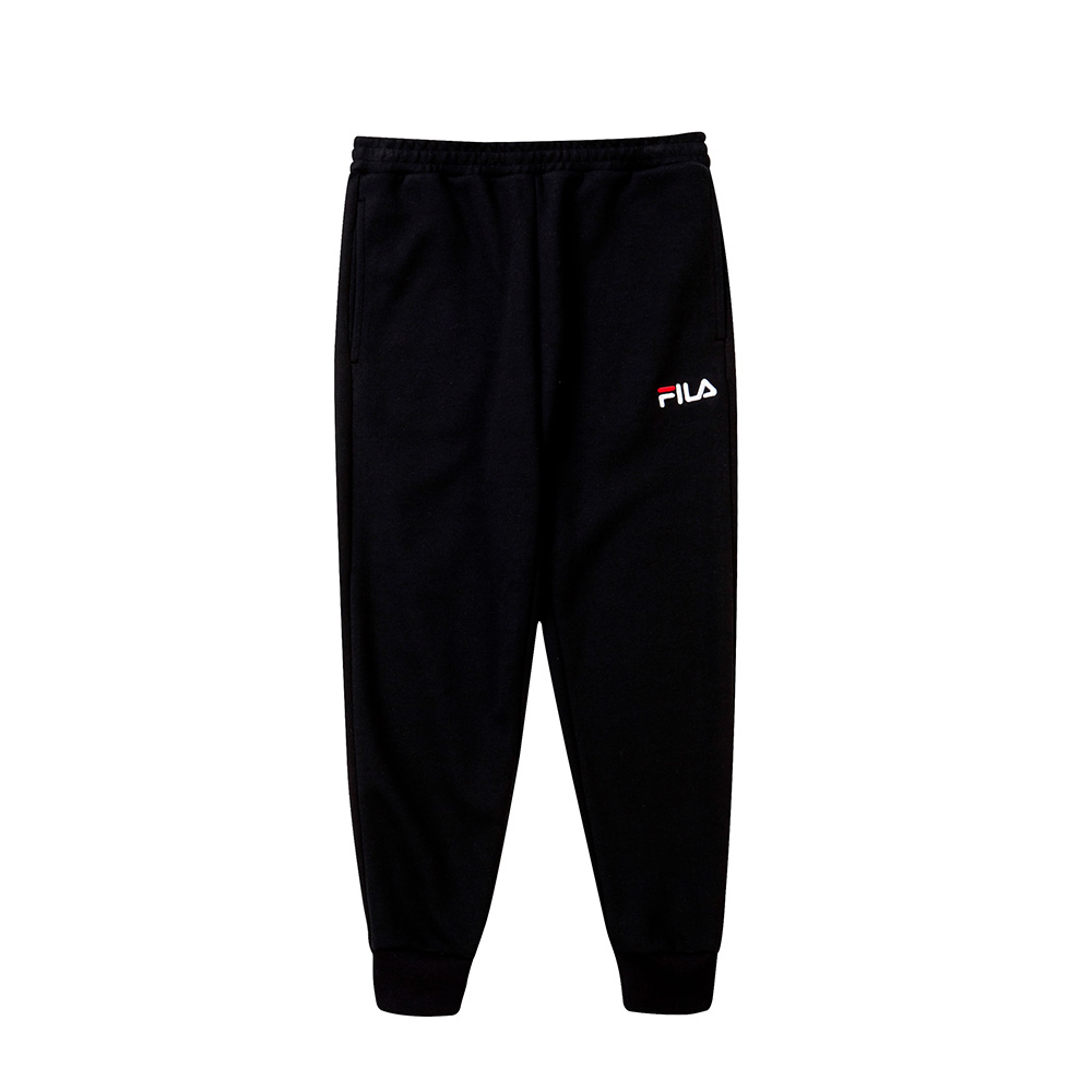 FILA KIDS #漢城企劃 童 針織長褲-黑 1PNT-4411-BK