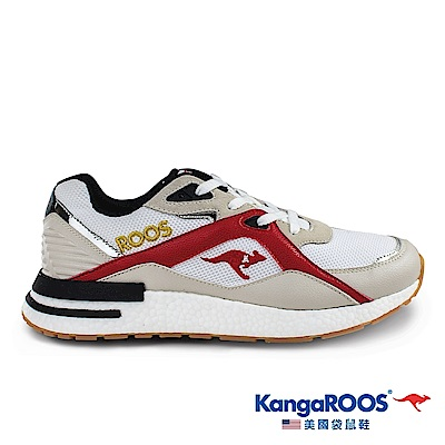KangaROOS 美國袋鼠鞋 男 RUNAWAY EVO 科技運動鞋(白/淺咖-KM01021)