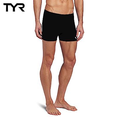美國TYR 男用四角黑色訓練款泳褲 Solid Boxer Trunk