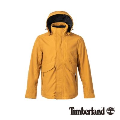 Timberland 男款小麥色休閒防水連帽三合一外套|A1WSZ