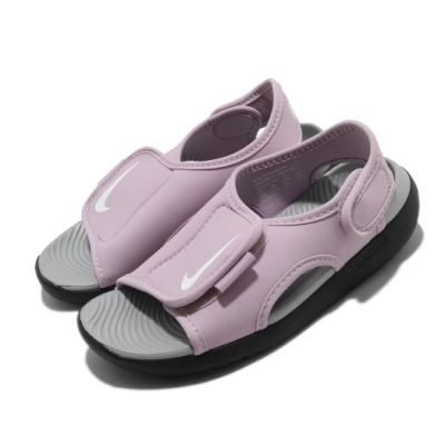 Nike 涼拖鞋 Sunray Adjust 5 V2 童鞋 輕便 舒適 魔鬼氈 夏日 穿搭 中童 粉 黑 DB9562501