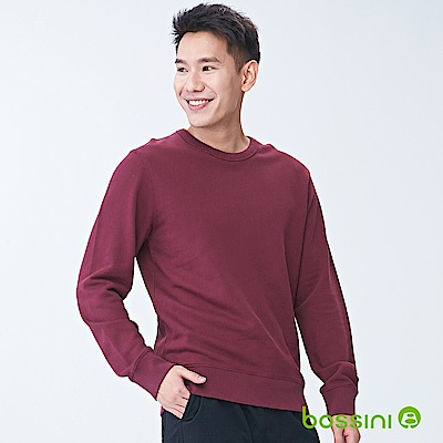 bossini男裝-圓領厚棉T恤01酒紅