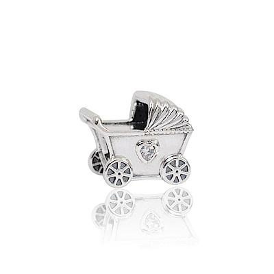 Pandora 潘朵拉 魅力嬰兒車鑲鋯 純銀墜飾 串珠