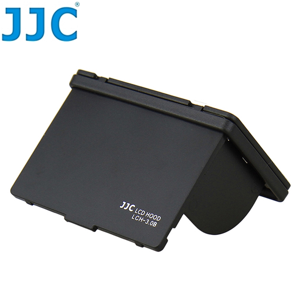 """JJC可摺疊螢幕遮光罩LCD遮光罩LCH-3.0B(黑色,適3.0"""" 3吋螢幕遮陽罩)含保護屏"""