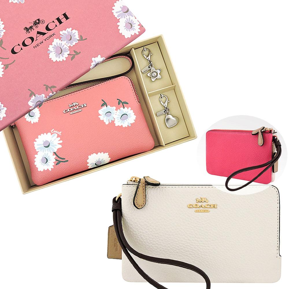 COACH 皮革PVC雙層/大型單層手拿包(多款供選)