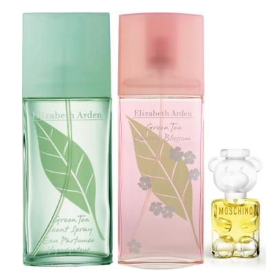 *Arden 雅頓 綠茶+綠茶櫻花淡香水100ml組+熊芯未泯2小香5ml