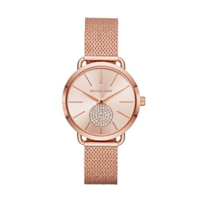 MICHAEL KORS美式優雅小秒針米蘭帶腕錶MK3845