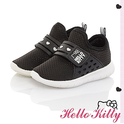 HelloKitty 旗艦款 輕量透氣減壓抗菌防臭休閒童鞋-黑