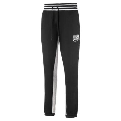 PUMA-男性籃球系列PRESS束口棉褲-黑色-歐規