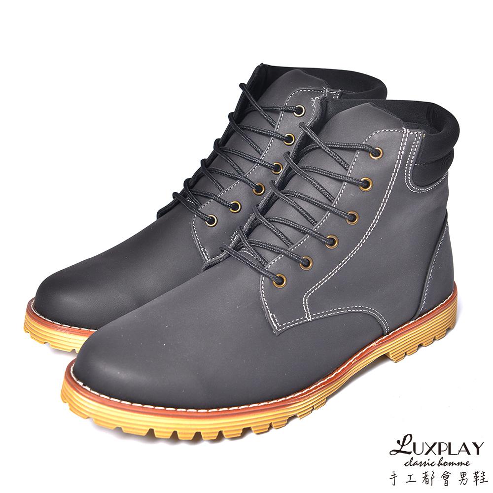 LUXPLAY  男款 經典羊巴戈輕手感黃靴 CF920黑 @ Y!購物