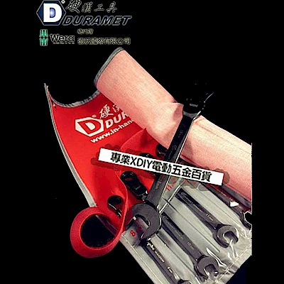 DURAMET 德國工藝 鉻釩鋼 搖頭 棘輪扳手 梅開板手組