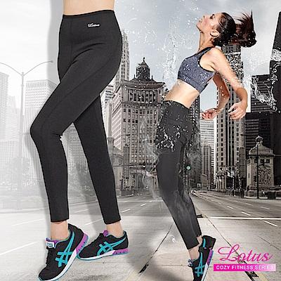運動褲 心機顯瘦極限飆汗機能運動長褲 M-XXL LOTUS